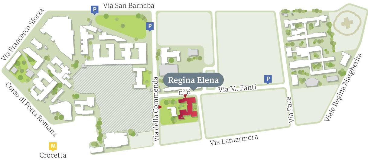 Mappa Padiglione Regina Elena
